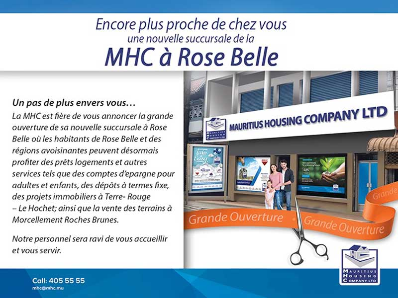 MHC - Opening of a new branch at Rose Belle